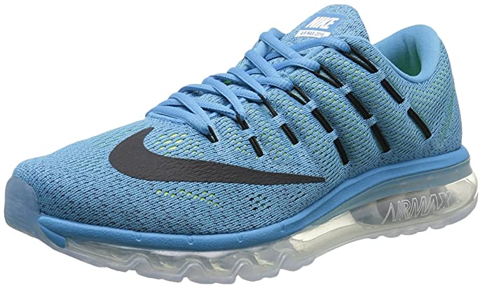 buy online 7c7aa d604a Nike Air Max 2016 806771-400 Mens Shoe Blue Lagoon Black - Brave Blue 8.  5M  Buy Online at Low Prices in India - Amazon.in