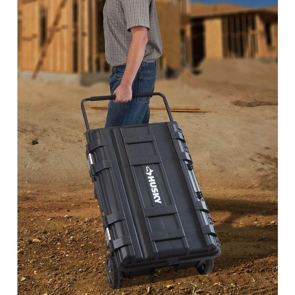 Husky 25 gal. Mobile Utility Work Cart for Tool Storage, Black by Husky (Image #1)