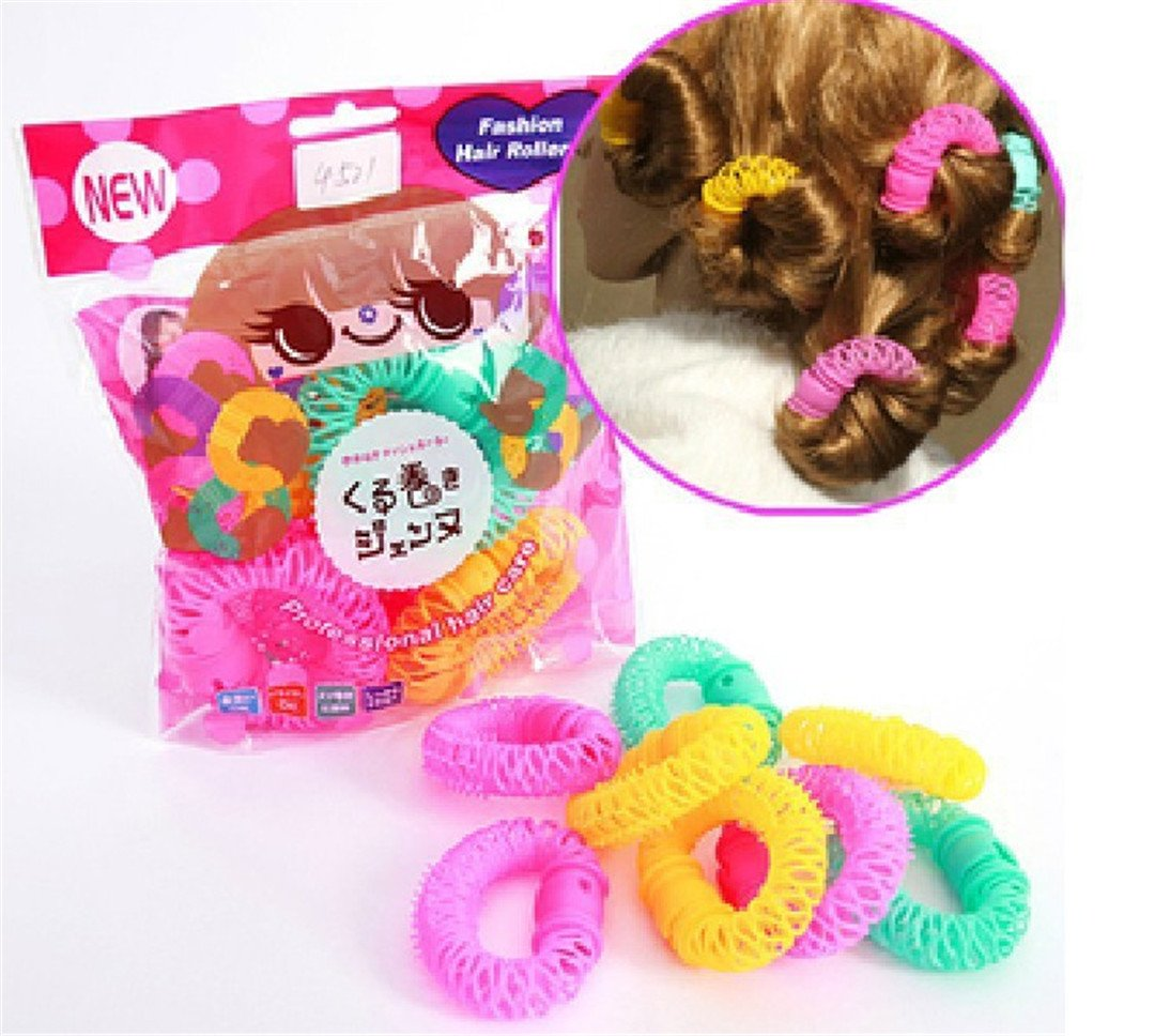 14 Pieces/Lot Lucky Donuts Curly Hair Curls Roller Hair Styling Tools Hair Tool For Girls And Ladies