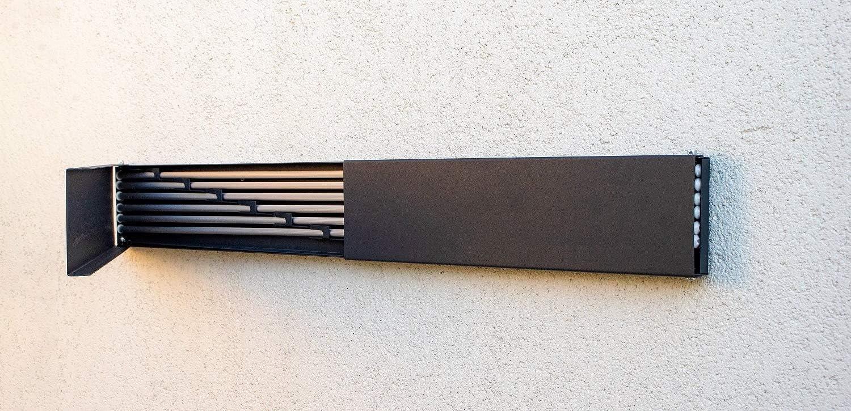 Carcasa de chapa en antracita Chamas Tendedero de pared extensible