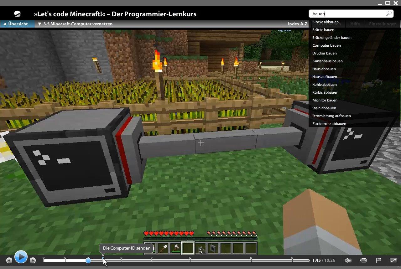 Lets Code Minecraft So Lernst Du Spielend Programmieren Ganz - Minecraft hauser bauen spiele