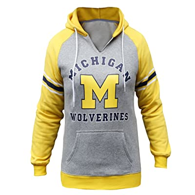 1b1787d829 Women s Michigan Wolverines Athletic Hoodies Sporty Sweatshirts - Grey    Yellow