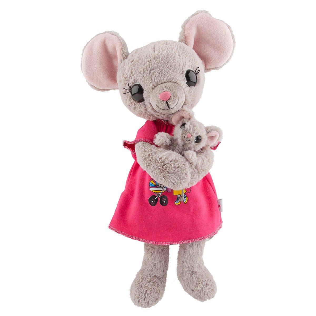 House of Mouse Mama Ratón con bebé Abdomen, Peluche, 35 cm, 8878: Amazon.es: Juguetes y juegos