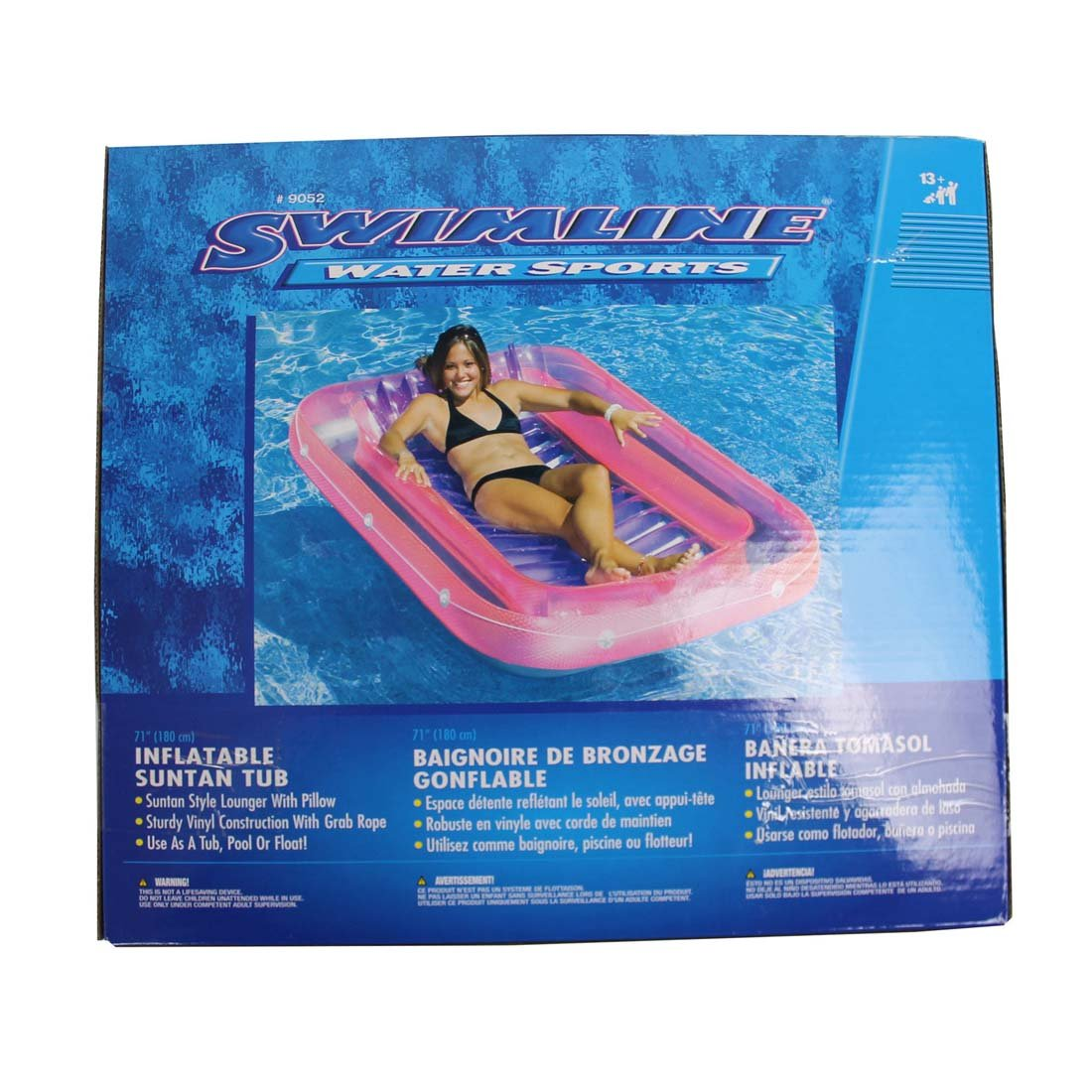 Amazon.com: Swimming Pool Inflatable Suntan Tub Float Lounge Dimensions: 70