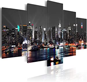 Cityscape New York Canvas Wall Art Decor Picture Print Design Wall Art Painting Decor Decorations for Home Artwork Pictures Bedroom