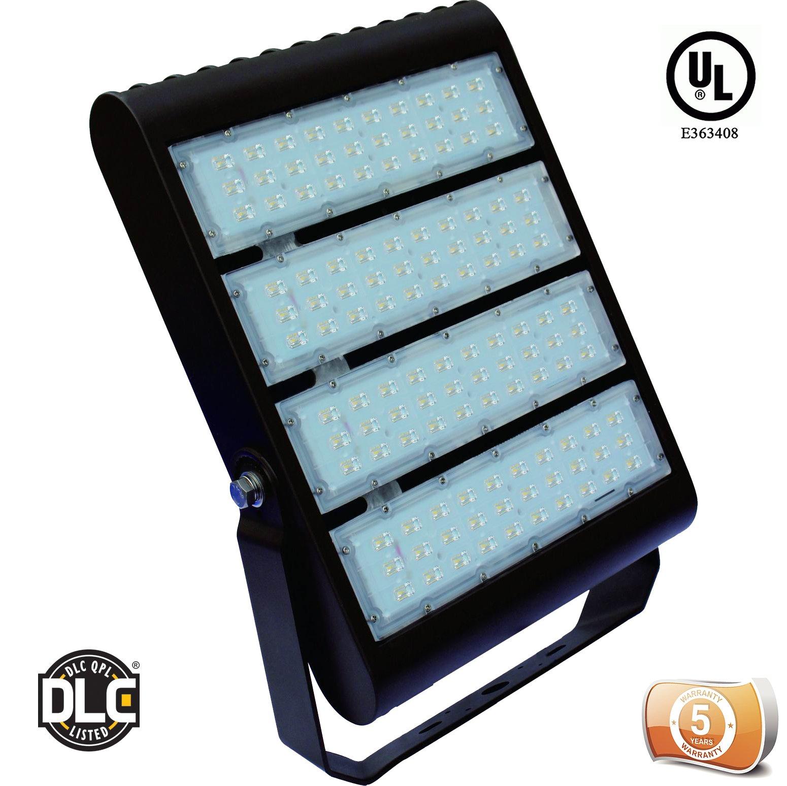 DLC Listed LEDrock Electra Series 300 Watt LED Area Light, 4000K Neutral White, 120V-277V, Comparable to 1,000W MH, 30,857 Lumens, Bracket Mount Area Light, UL, Warranty Based in Denver, CO, USA