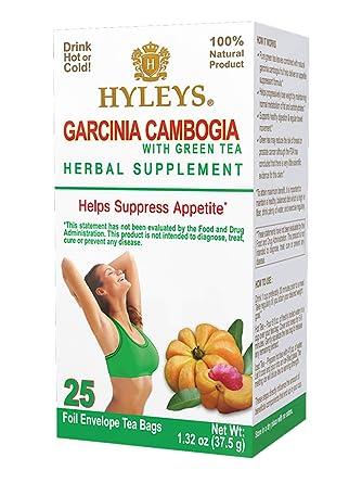 Amazon Com Hyleys Garcinia Cambogia Green Tea 25 Bags 100