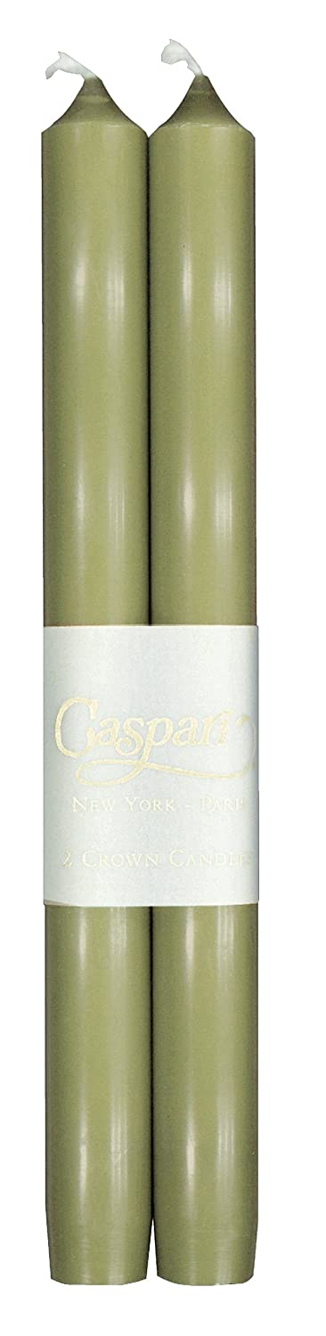 Set of 2 Smokeless Unscented Candles Entertaining with Caspari 10-Inch Taper Dripless Aqua