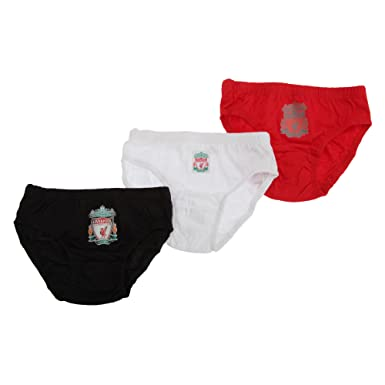 b10135a296 Childrens Boys Liverpool FC Underwear Briefs (3 Pairs)  Amazon.co.uk   Clothing