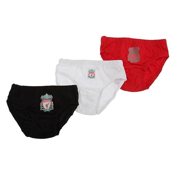 Calzoncillos cortos Slips Niños Diseño Liverpool FC 100% algodón (Pack de 3 unidades)
