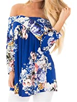 ONLYSHE Women's V-Neck Cold Shoulder Short Sleeve Solid Evening Party Long Maxi Dress