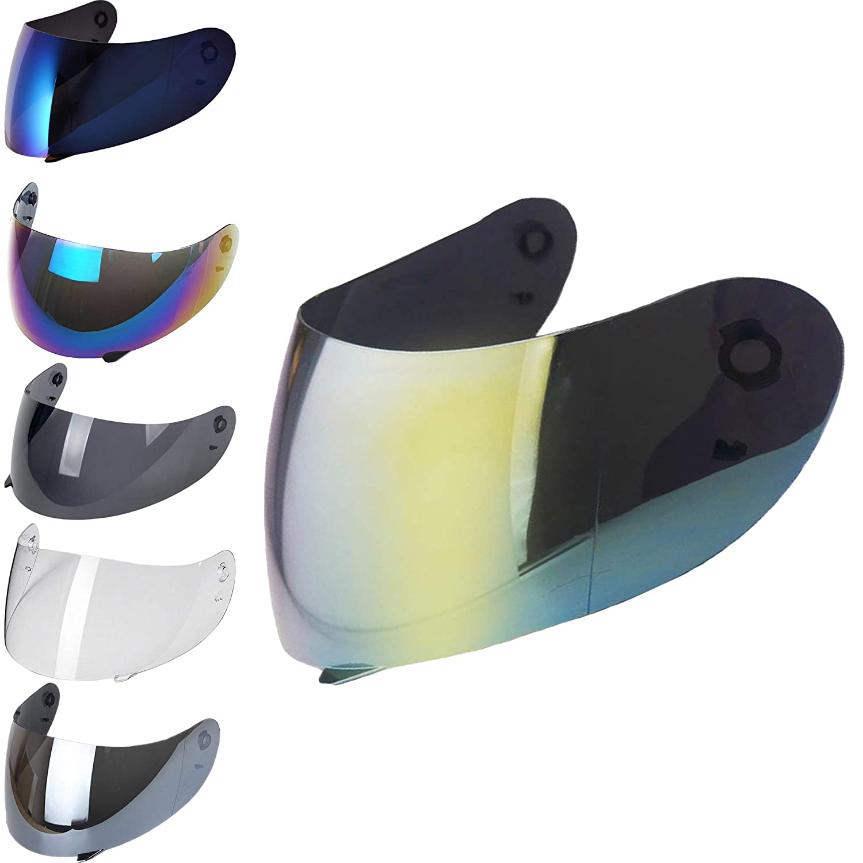 Visiera Casco Agv K3 K4 K4 Evo Visiere Trasparenti Fume Oro Blu Specchiata Argento Arcobaleno Iridium Aftermarket Oro Iridium