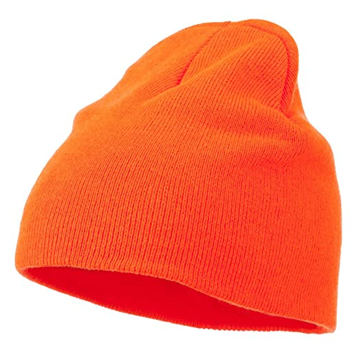 Amazon.com  Ultra Soft Acrylic Knit Beanie - Neon Orange OSFM  Clothing 8e52dc1abb9