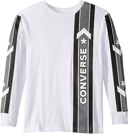 Converse Kids Boys Long Sleeve Wordmark Graphic T-Shirt (Big Kids ...