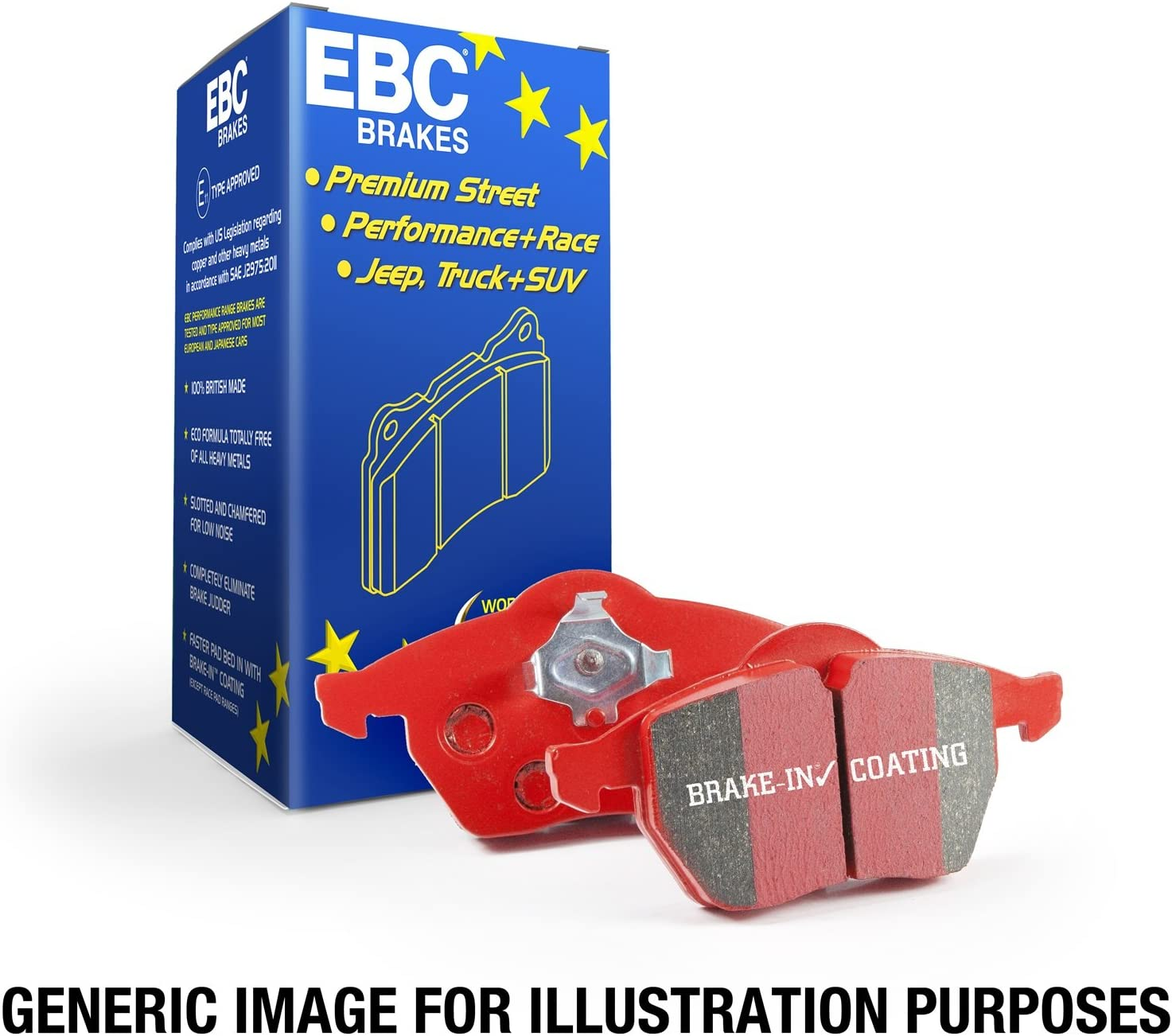 EBC Brakes DP31323C Redstuff Ceramic Low Dust Brake Pad 71MMc7f62BZLSL1500_