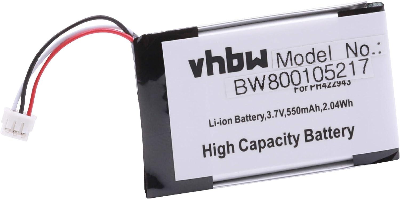 vhbw batería 500mAh (3.7V) para teléfono inalámbrico Grundig D780, D780A, Philips S9A, S9A/34, S9A/38, S9H por PH422943, SL-422943.