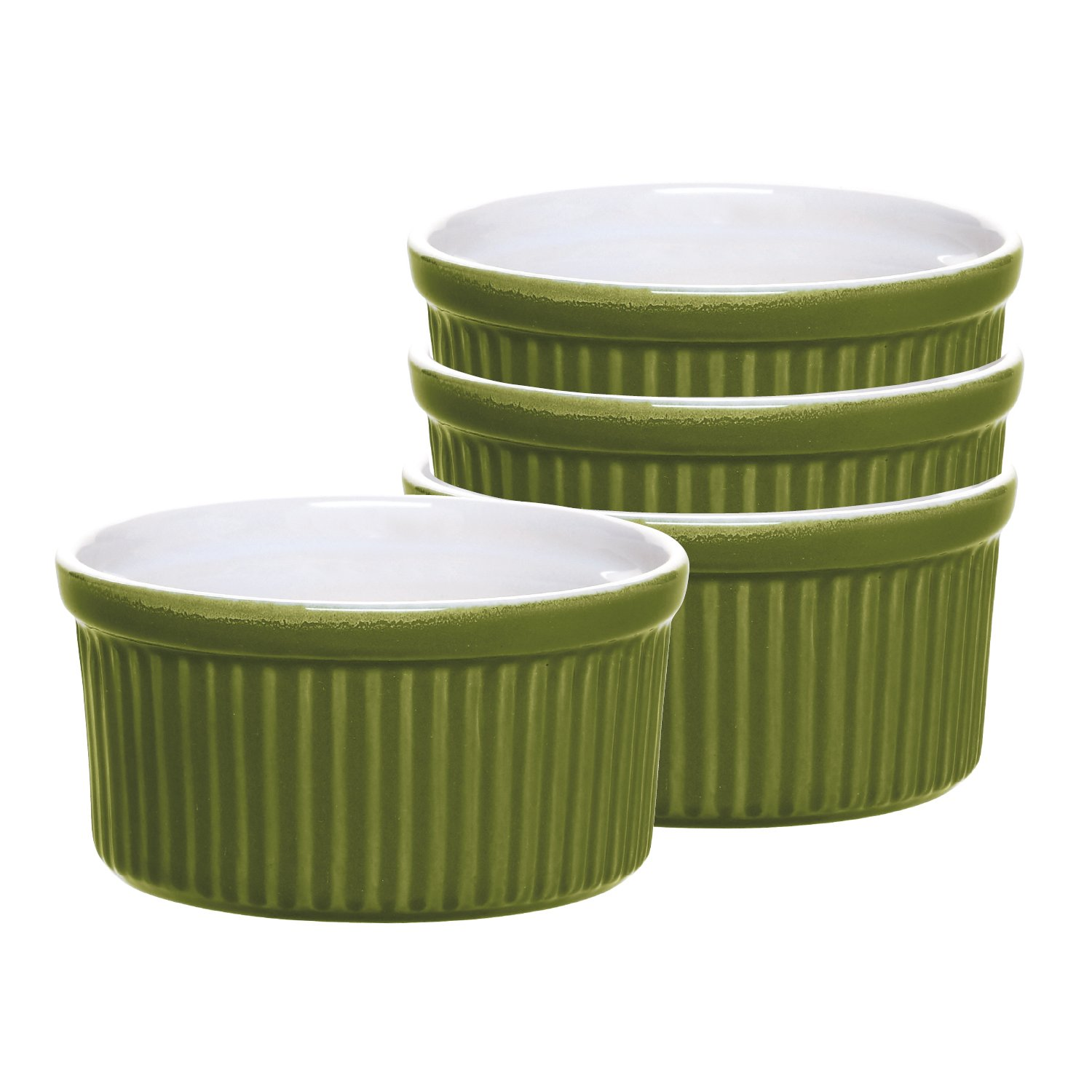 Emile Henry Ramekin, Olive, Set of 4