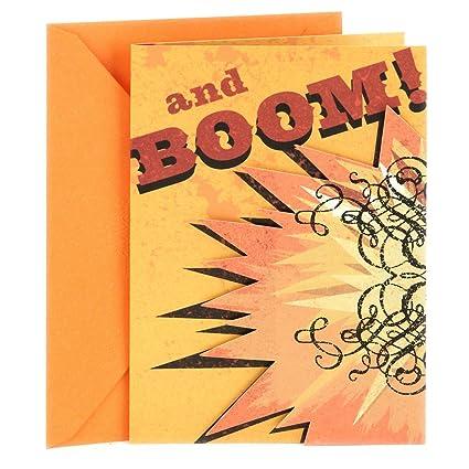 Amazon Hallmark Birthday Greeting Card For Him Boom Office