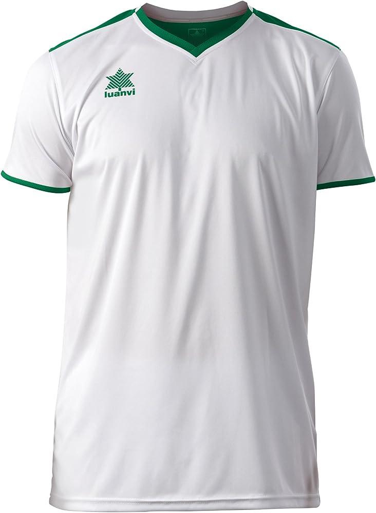 Luanvi Match Camiseta Deportiva de Manga Corta, Hombre, Blanco ...