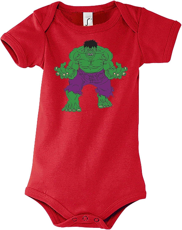 Body per Neonato e Ragazza Modello Incredible Hulk Taglia 6-18 Mesi Youth Designs