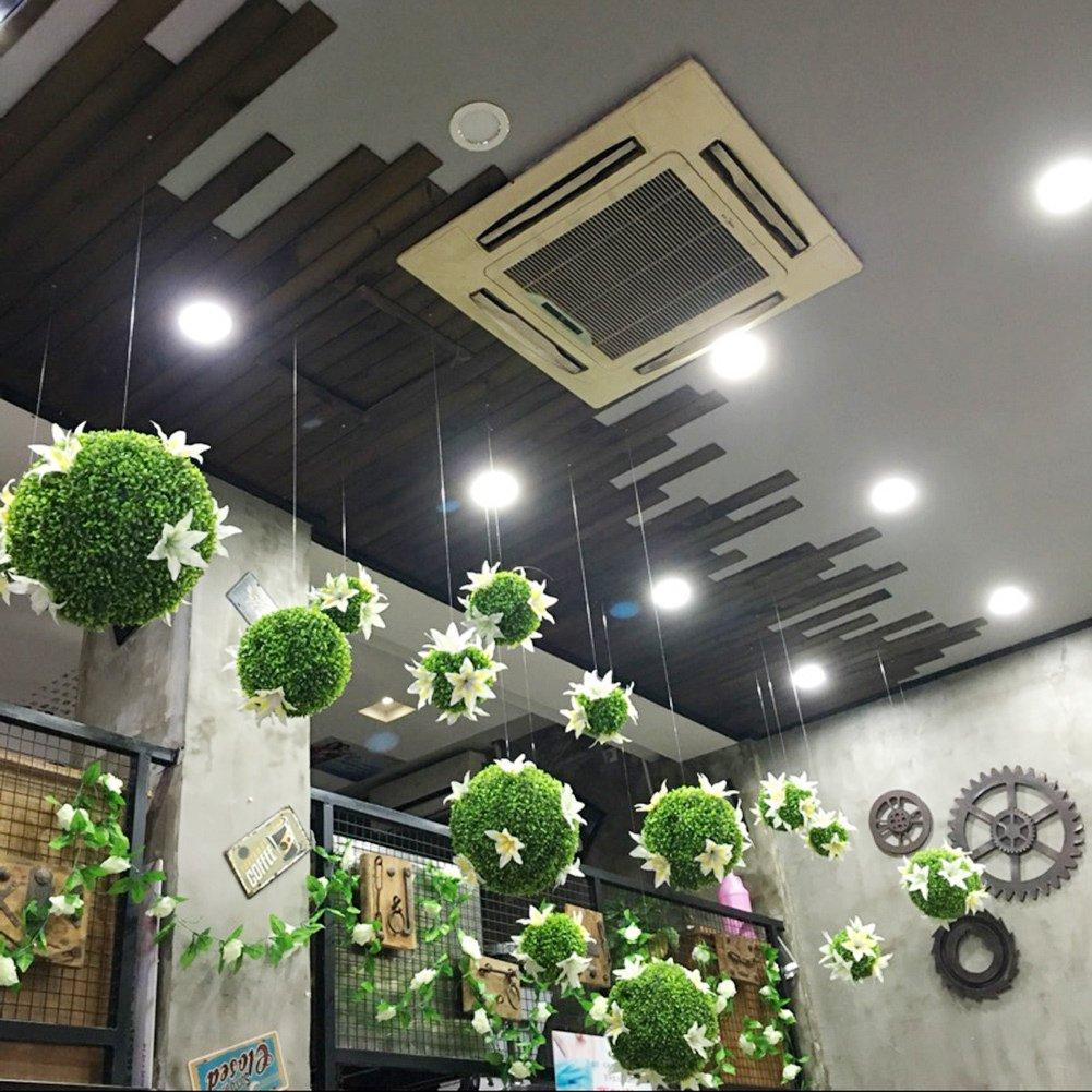 2pcs, 12cm planta topiary bola artificial del boj planta decorativa falsa bola de la planta bola verde de la hierba globo verde para el centro comercial de la boda decoraci/ón del hogar de navidad
