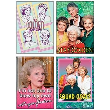 Set de 4 imanes de vinilo para niñas doradas - pegar al refrigerador, archivador, más: Amazon.es: Hogar