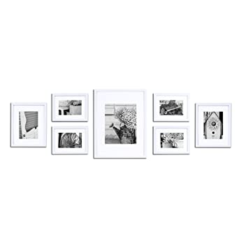 pinnacle 11fw1444 white 7 piece solid wood wall frame kit