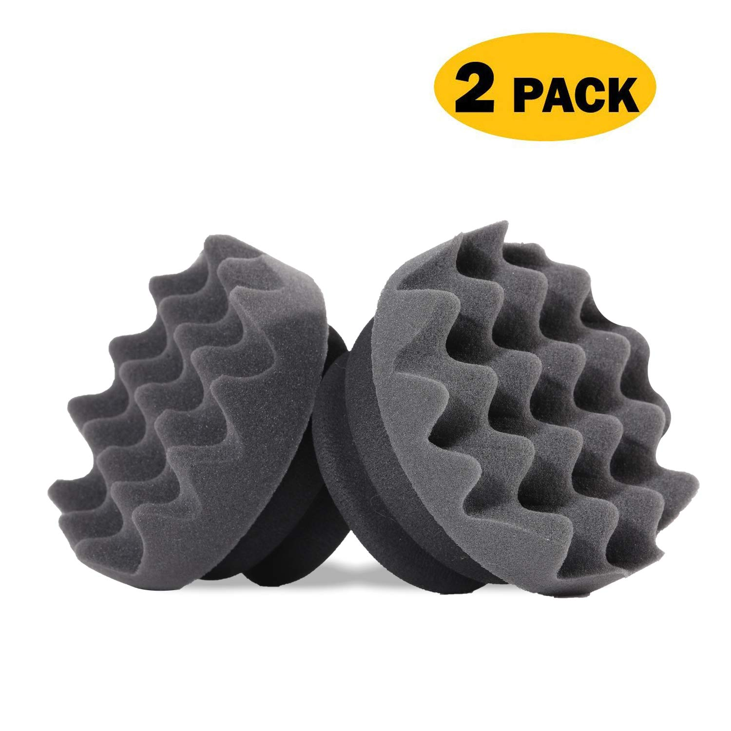 BOKA Pro Tire Dressing Applicator 2-Pack Tire Shine Applicator- Ergonomic Round Grip & Deeper Wave Design to Reach Trim Makes Detailing Tires Easier and Cleaner - Durable, Washable, and Reusable