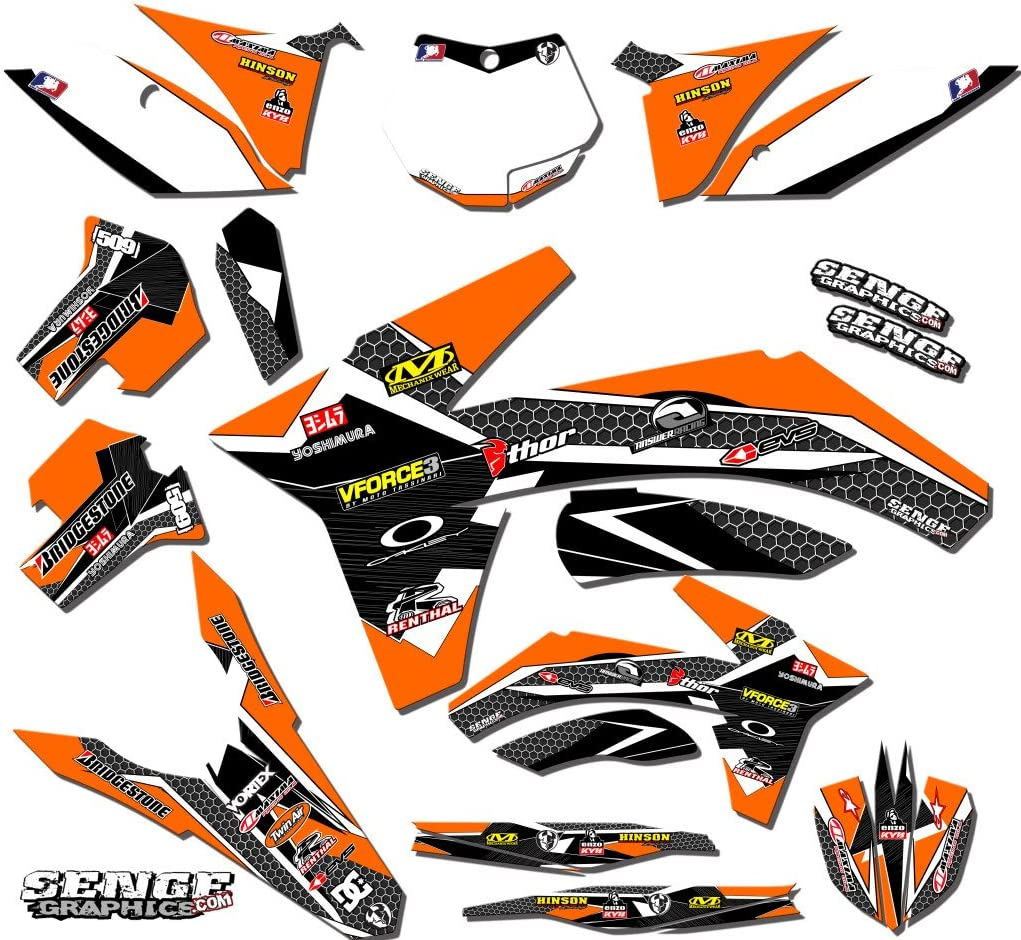 2011-2012 SXF Compatible with KTM Podium Black Base Senge Graphics kit