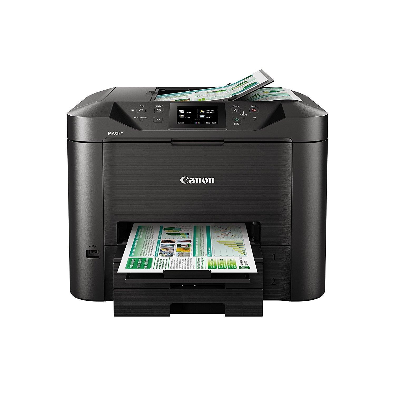 Canon MAXIFY MB5450 600 x 1200DPI Inkjet A4 Wi-Fi - Multifunctionals (Inkjet, Colour printing, 600 x 1200 DPI, 550 sheets, A4, Black) 0971C006