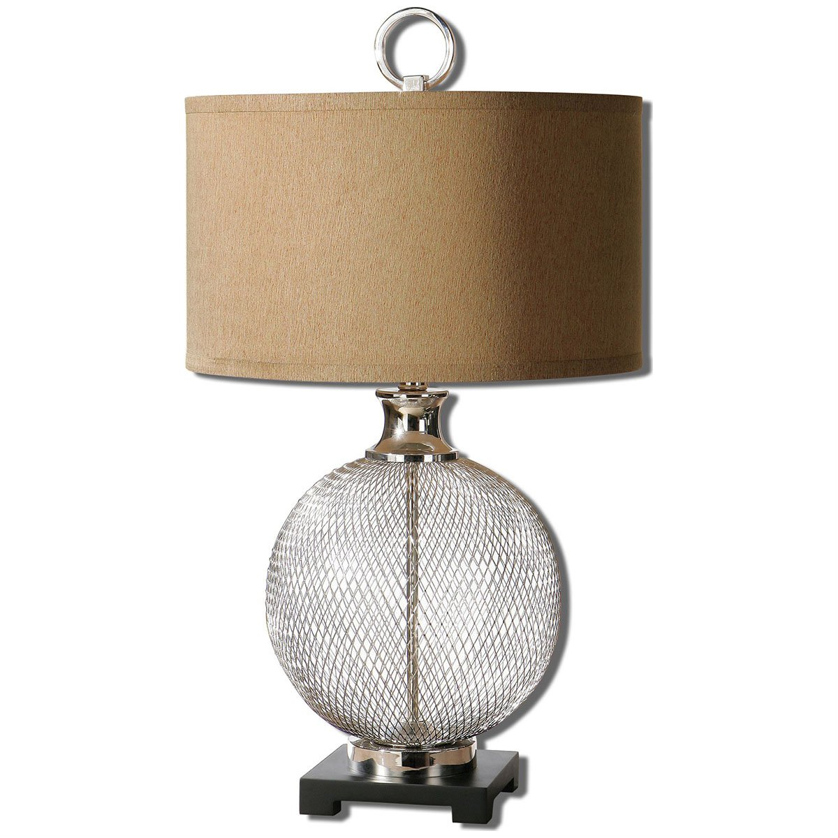 Uttermost 26589-1 Catalan Metal Accent Lamp, Brown
