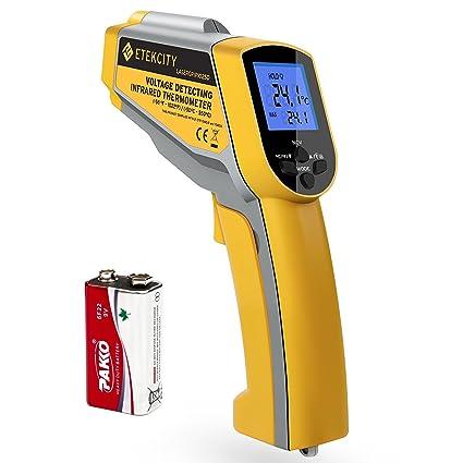 Etekcity Lasergrip 1025D Termómetro Infrarrojo Digital Dual Láser IR Sin Contacto, Pistola de Temperatura -