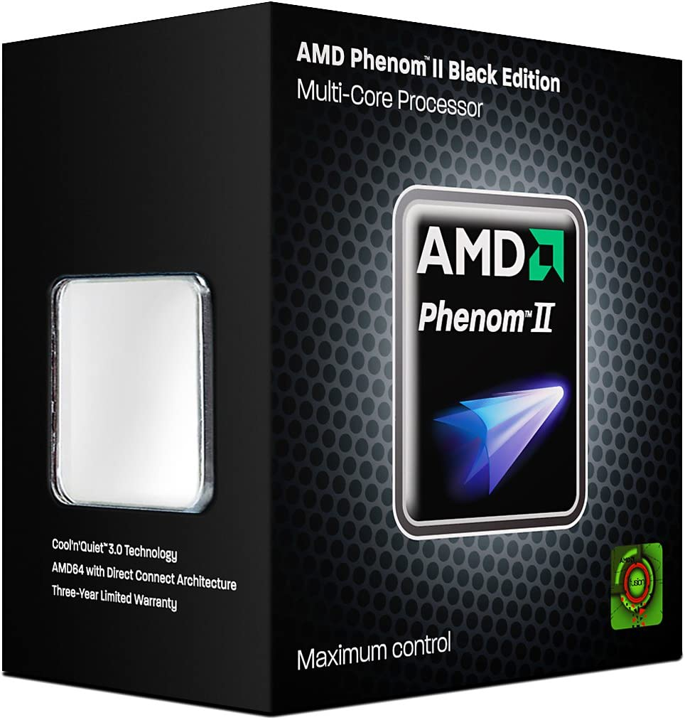 Amazon Com Amd Hdz940xcgibox Phenom Ii X4 940 Black Edition 3 0ghz Cache 8mb Am2 125w Processor Retail Electronics