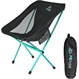 FE Active - Compact Folding Chair Built with Full Aluminum Designed as Ultralight Portable Camping Chair for Beach, Hiking, Trekking, Backpacking, Camping, Sports Games | Designed in California, USA