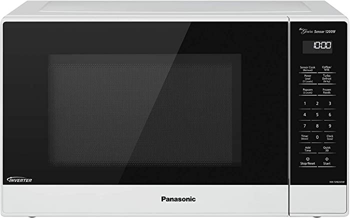 Panasonic Compact Microwave Oven with 1200 Watts of Cooking Power, Sensor Cooking, Popcorn Button, Quick 30sec and Turbo Defrost - NN-SN65KW - 1.2 cu. ft (White)