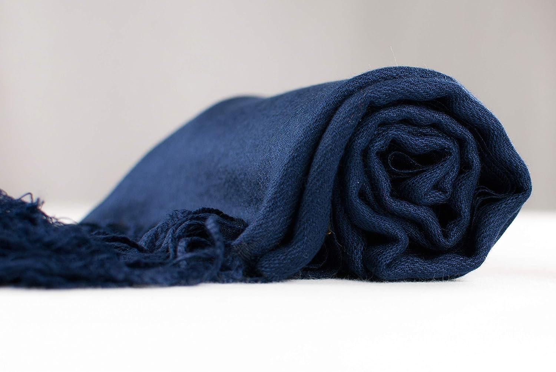 CJ Apparel Bleu marine Solides Secondes Couleur Ch/âle Pashmina d/écharpe