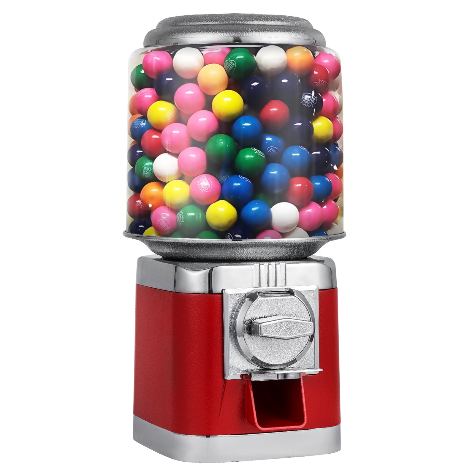 Onionfree Metal Bulk Vending Gumball Machine with Lock& Key Candy Vending Equipment Gumball Dispenser Contains 325pcs 1'' Gumballs