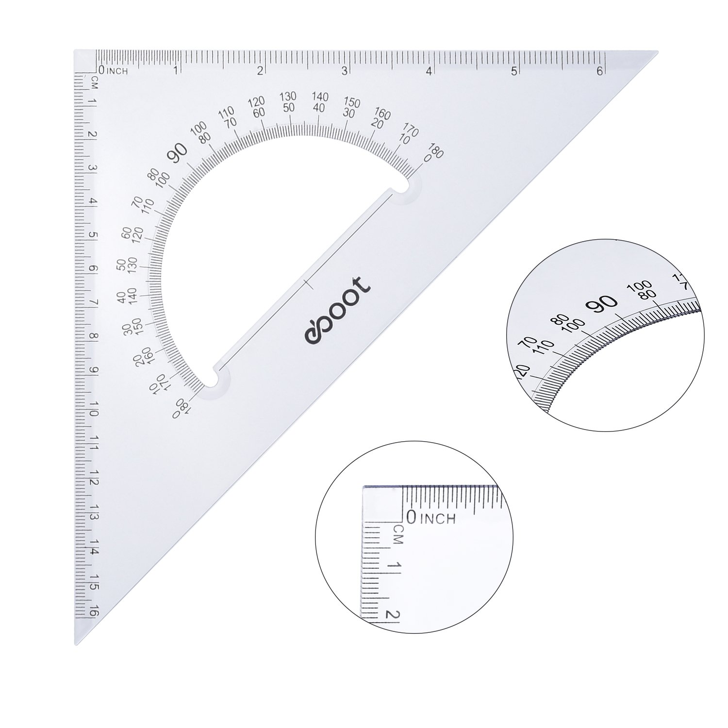 eBoot Large Triangle Ruler Square Set, 30/60 and 45/90 Degrees, Set of 2 by eBoot (Image #6)