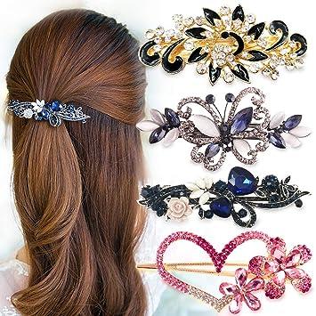 elegante schmuck pfau haarspange braut volle crystal haarspange rosa haarnadel