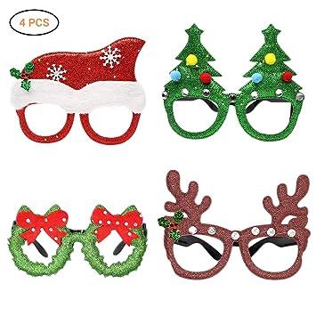 4 Unidades De Gafas De Navidad Divertidas Para Fiestas Gafas De Sol