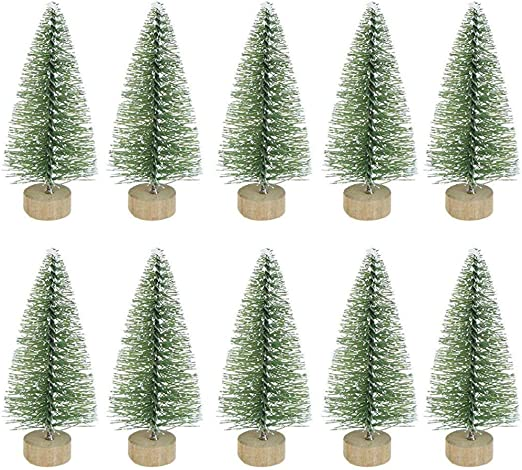 BESLIME Artificial Mini sisal - Árbol de Navidad en Miniatura, Mini árbol de navidadArtificial Mini sisal Cedro Blanco el hogar Mesa Parte Superior Boda Fiesta Navidad decoración,10pcs: Amazon.es: Hogar