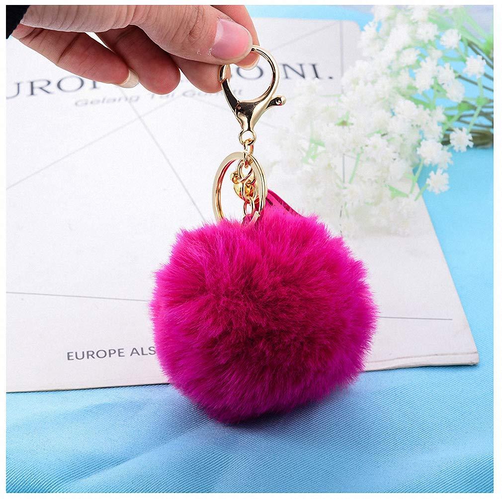 Amazon.com: Womens Keychain Tassel Pompom Car Key Ring ...