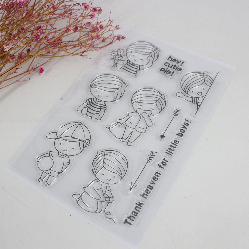 Hijing DIY Clear Stamp Clear Silicone Lovely Clear Pattern Stamp for Panda DIY Album Scrapbooking Photo Card Decor Kid Gift No.1 by Hijing (Image #3)