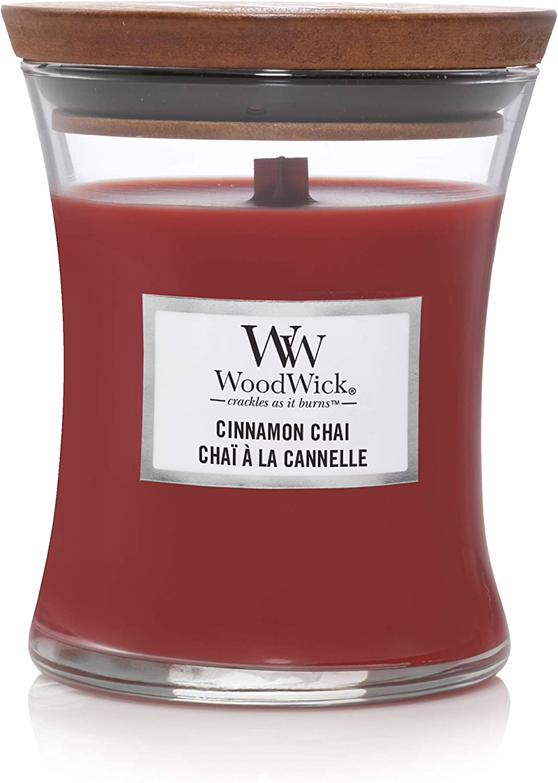 WoodWick Medium Hourglass Scented Candle, Cinnamon Chai