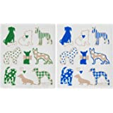 Wet-It Swedish Treasurers Swedish Dishcloth Set of 2 - (Dogs)