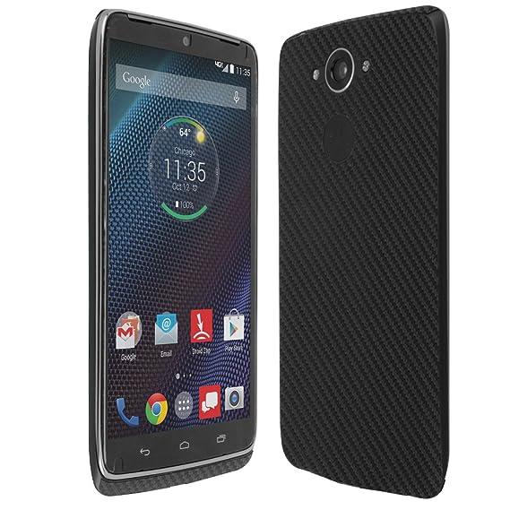 Motorola Droid Turbo Screen Protector + Carbon Fiber Full Body, Skinomi TechSkin Carbon Fiber Skin