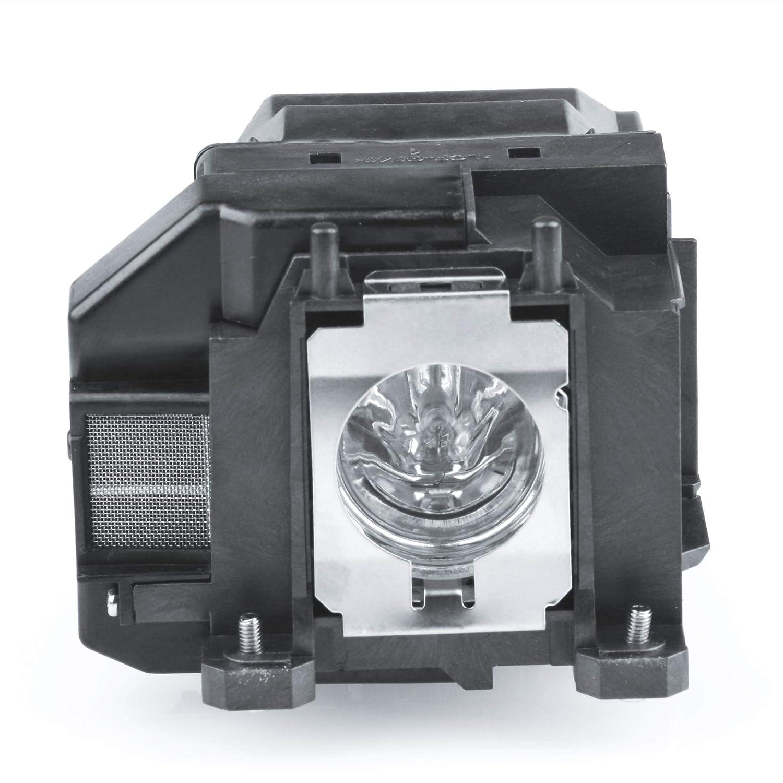 Powerlite 1261W ELPLP67 L/ámpara de Repuesto para proyector con Carcasa para Epson EX7210 Huaute V13H010L67 VS315W Powerlite S11 Powerlite 1221 V11H433020 VS210 Powrelite X12 VS310