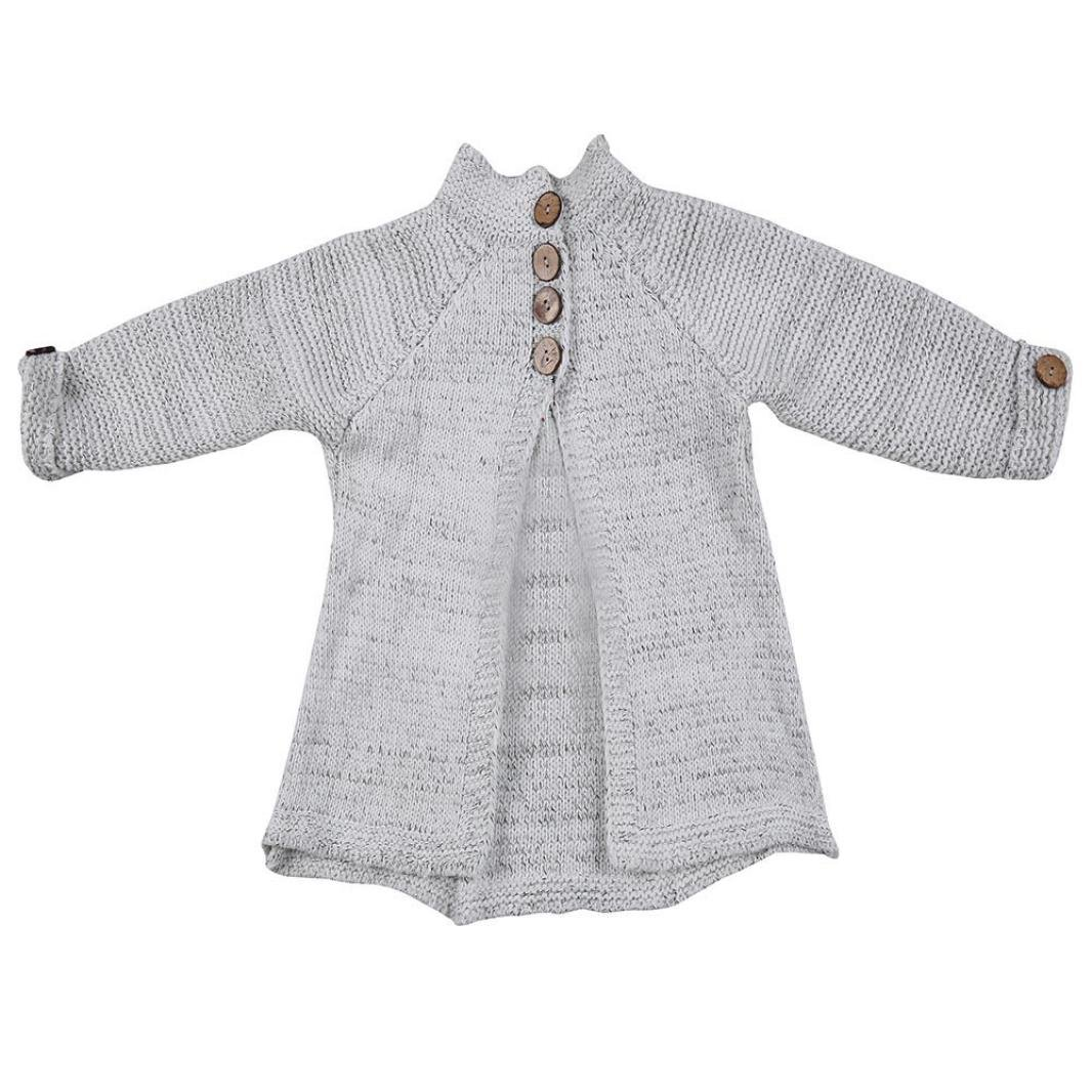Amazon.com: AutumnFall Fashion Baby Girls Cardigan Coat,Toddler Kids Baby Girls Outfit Clothes Button Knitted Sweater Tops (7T, Pink): Office Products