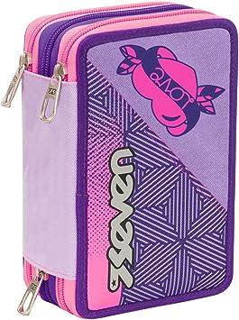 Seven 301011804 Rebel Girl - Estuche con 3 Cremalleras: Amazon.es: Juguetes y juegos