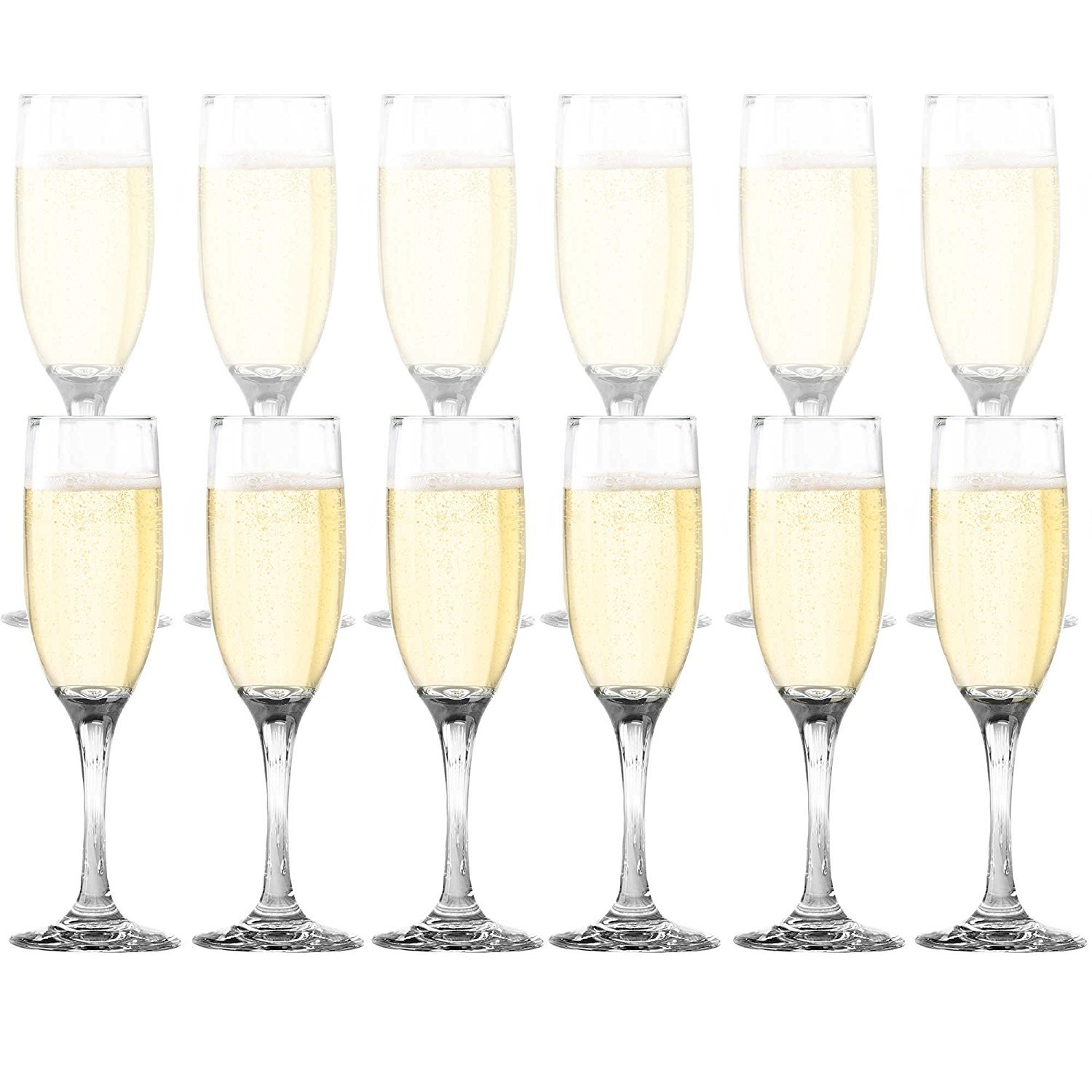 Dailyware Toasting Flutes (Set of 12), Elegant Style Glasses, Perfect for Special Occassions (3)